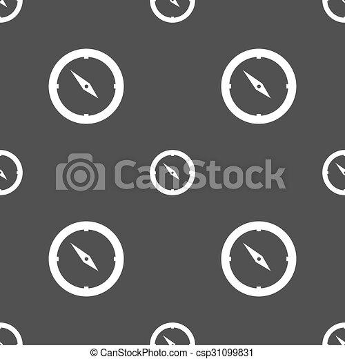 灰色, パターン, windrose, シンボル。, 印, バックグラウンド。, ベクトル, seamless, コンパス, icon., ナビゲーション - csp31099831
