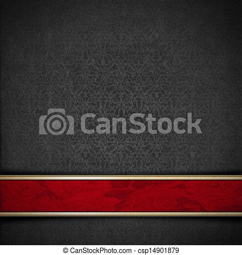 灰色, ビロード, 贅沢, 背景, 花, 赤 - csp14901879