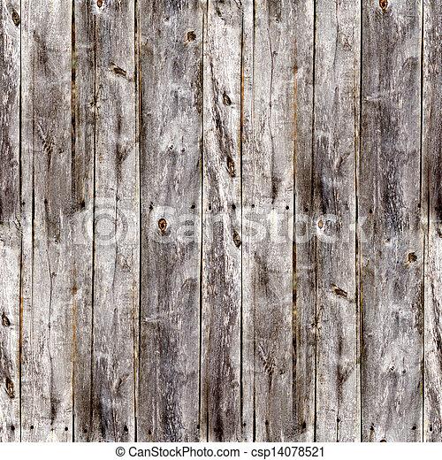 灰色, 古い, 板, フェンス, seamless, 手ざわり, 木 - csp14078521