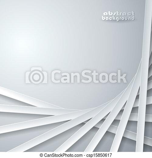 灰色, 抽象的, リボン, 背景 - csp15850617