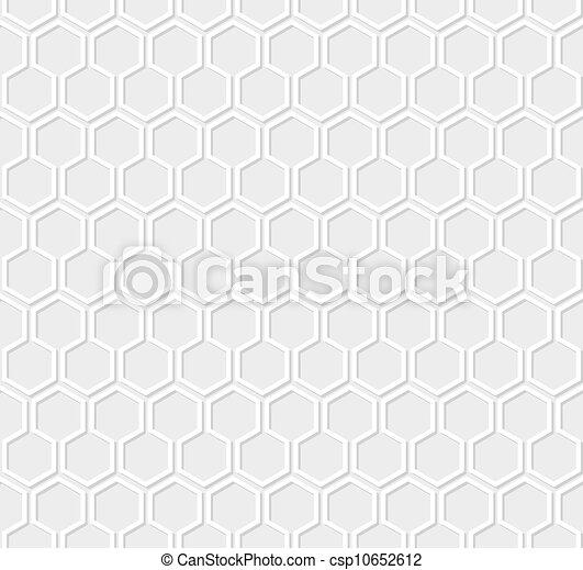 灰色, 白, ハチの巣, 背景 パターン - csp10652612