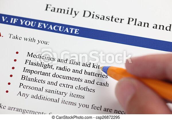 災害, 家族, 計画 - csp26872295