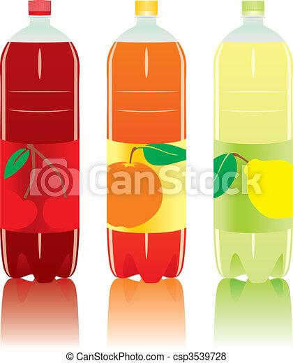 炭酸で飽和した飲み物, びん - csp3539728