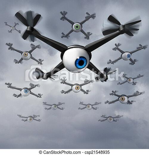 無人機, 問題, プライバシー - csp21548935