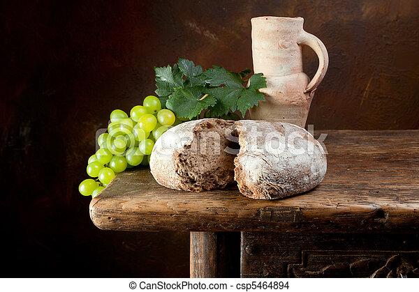 無作法, ワイン, 水差し, bread - csp5464894