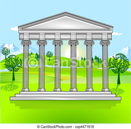 無料で, 寺院, 風景 - csp4471618