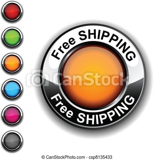 無料で, button., 出荷 - csp8135433