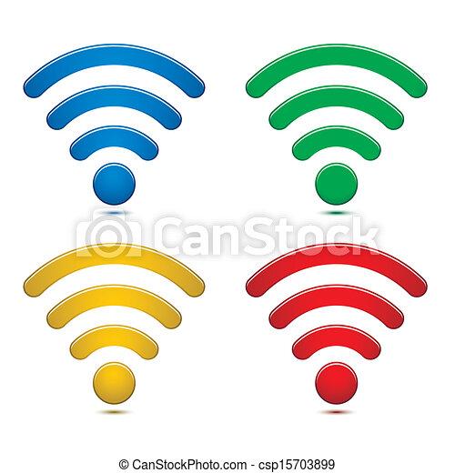 無線, シンボル, セット, ネットワーク - csp15703899