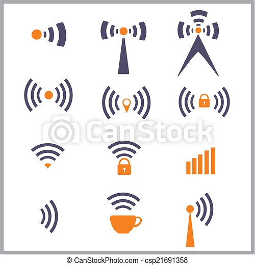 無線, シンボル, ネットワーク - csp21691358