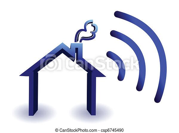 無線, 家, 接続 - csp6745490