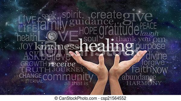 無限, 治癒, 言葉 - csp21564552