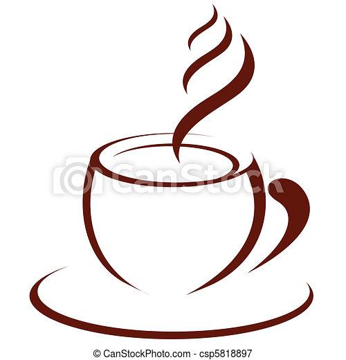 熱い コーヒー - csp5818897
