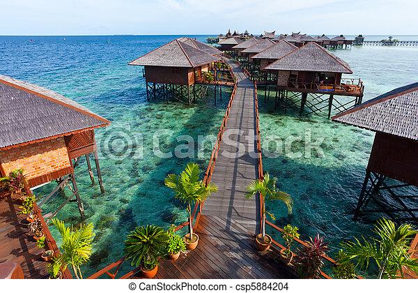 熱帯 島, 作られた, 人, リゾート - csp5884204