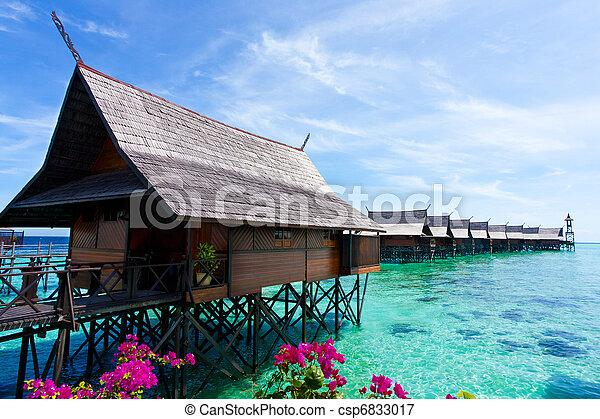 熱帯 島, 作られた, 人, リゾート - csp6833017