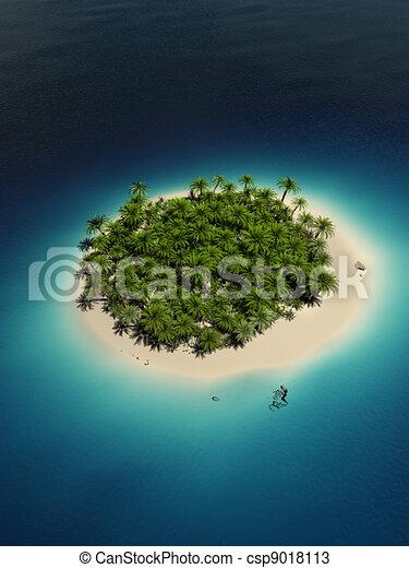 熱帯 島 - csp9018113
