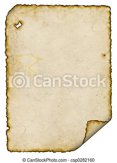 燃やされる, 羊皮紙 - csp0282160