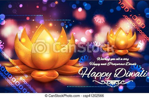 燃焼, diya, 祝祭, ライト, diwali, インド, 背景, 休日, 幸せ - csp41202566