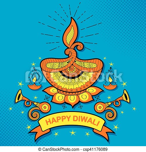 燃焼, diya, 祝祭, ライト, diwali, インド, 背景, 休日, 幸せ - csp41176089