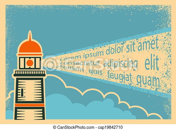 燈塔, 海報 - csp19842710