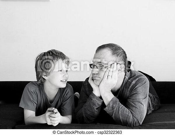父, 息子 - csp32322363