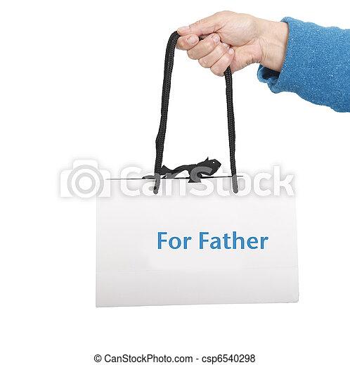 父, 贈り物袋 - csp6540298