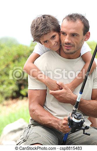 父, 釣り, 息子 - csp8815483