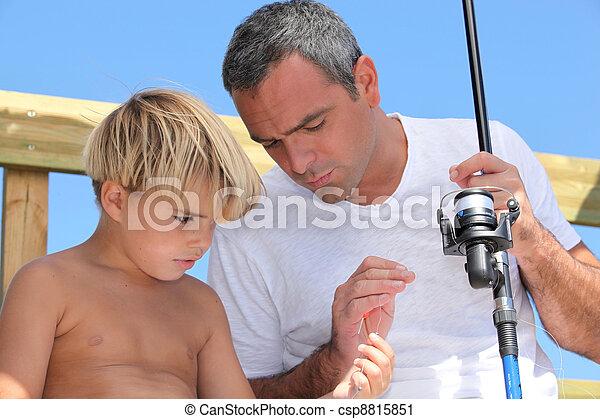 父, 釣り, 息子 - csp8815851