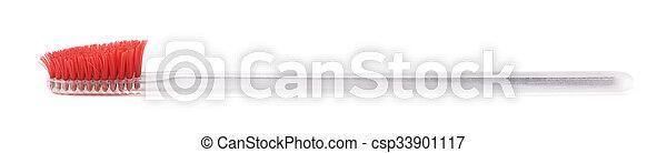 牙刷, well-worn, 塑料 - csp33901117