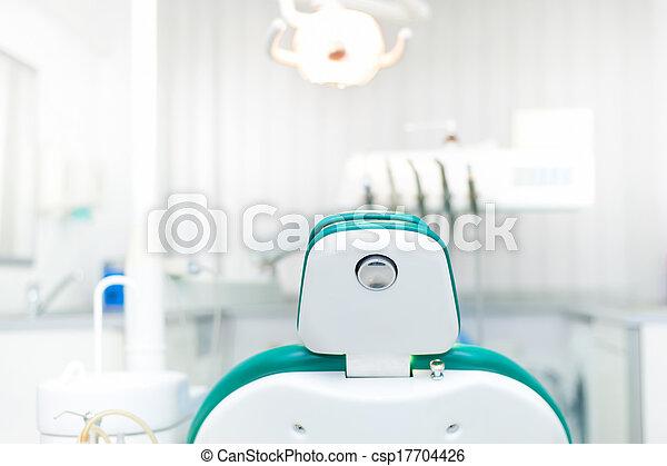 牙齒, 牙醫, 私人, 細節, 門診部, 椅子, 地方 - csp17704426