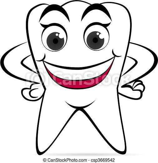 牙齿简笔画可爱