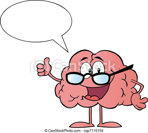 特徴, 漫画, 脳 - csp7115154