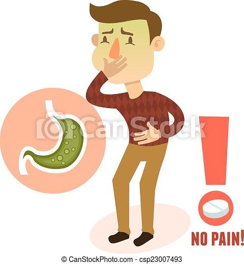 特徴 病気 吐き気 胃 特徴 イラスト 人 ベクトル 病気 痛み