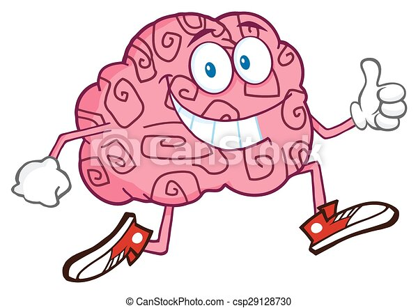 特徴, 脳, 微笑, ジョッギング - csp29128730