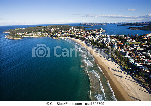 特性, 海岸, aerial. - csp1605709