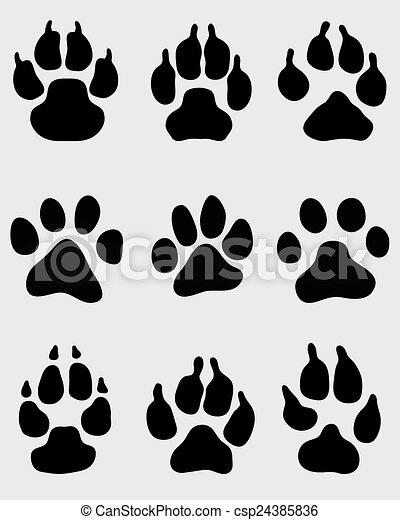 犬 足 イラスト ベクトル 黒 印刷