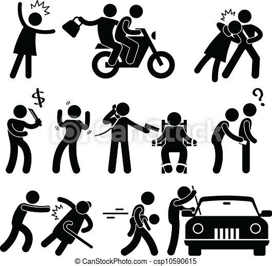 犯罪者, 強盗, 強盗, kidnapper - csp10590615