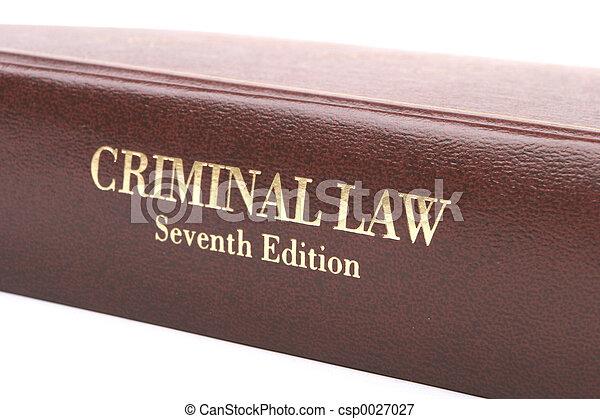犯罪者, 本, 法律 - csp0027027