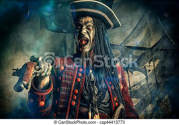 狂気, 海賊, 死んだ - csp44413773