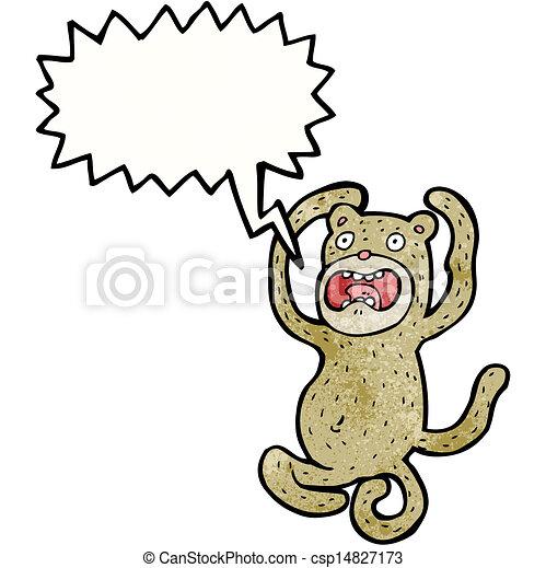狂気, 漫画, サル - csp14827173