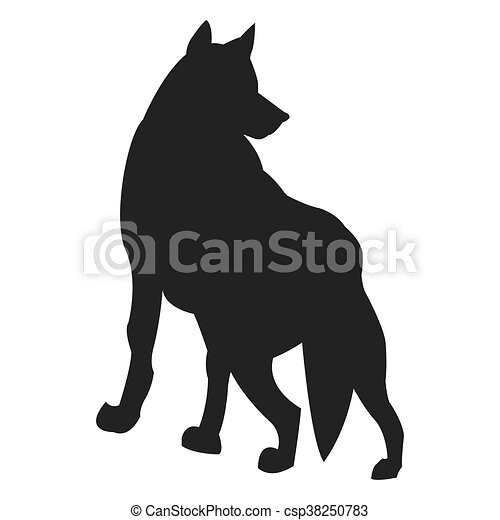 狼 シルエット アイコン 平ら シルエット 単純である イラスト ベクトル デザイン 動物 狼 アイコン Canstock