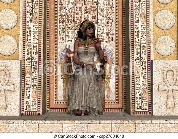王位, 王女, エジプト人 - csp27804640
