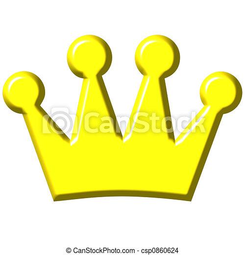 王冠, 3d - csp0860624