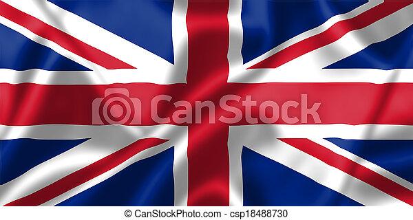 王國, 旗, 團結, 風, 吹 - csp18488730
