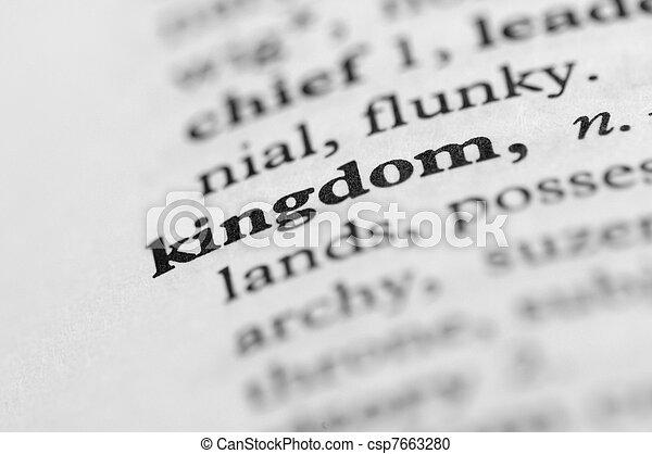 王國, 系列, -, 字典 - csp7663280