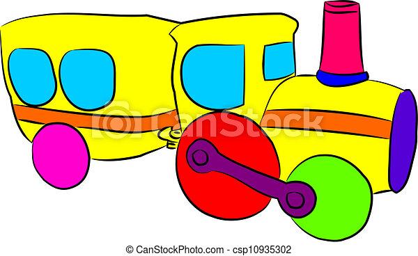 玩具火車 - csp10935302