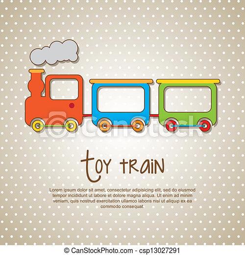 玩具火車 - csp13027291