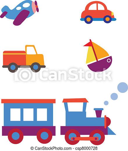 玩具, 集合, 運輸 - csp8000728
