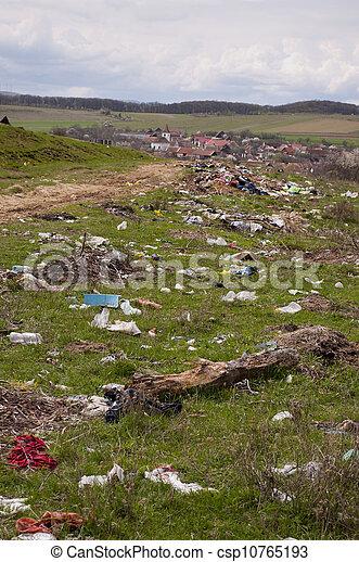 环境, 倾倒, 污染, -, 村庄 - csp10765193