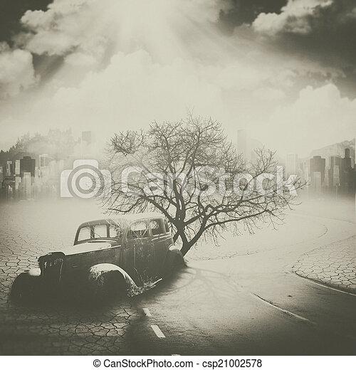 环境, 希奇古怪, 概念, future., 污染 - csp21002578