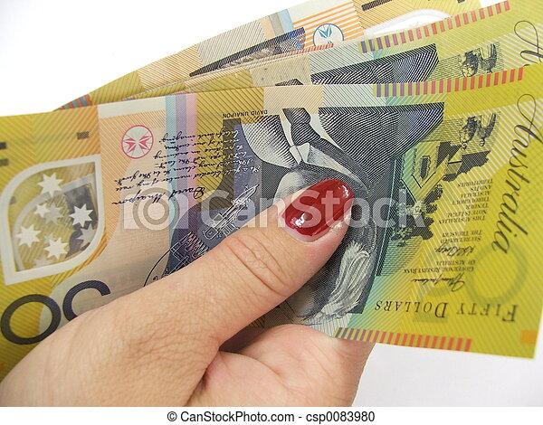 现金, 手 - csp0083980